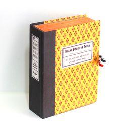 빈티지플라워 옐로우 고서적함 [VintageBookCase] BlankBook
