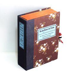 엔틱 로즈 브라운 고서적함 [VintageBookCase] BlankBook