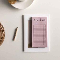 Pink brown checklist