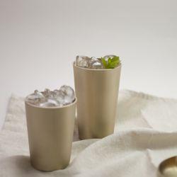 한놋 유기 맥주컵 (2 size) 유기그릇 놋그릇