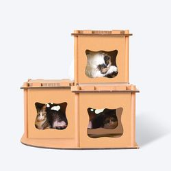 (봉봉펫닷컴) 고양이 3단 박스