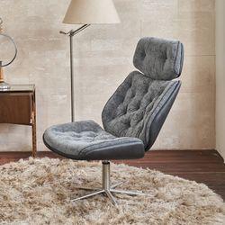 림스코지 패브릭 1인 안락 거실 서재 쿠션 회전 의자
