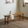 로사 원목 다이닝 테이블 식탁 벤치 1400
