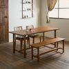 로사 원목 4인용 6인용 다이닝 식탁 세트(의자 2개+벤치1개)