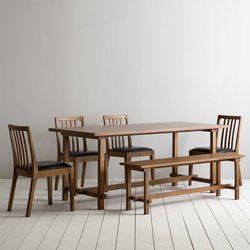 로사 원목 4인용 6인용 다이닝 식탁 세트(의자 4개+벤치 1개)