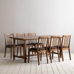 로사 원목 4인용 6인용 다이닝 식탁 세트(의자 6개)
