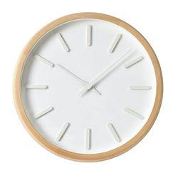 내추럴 라운드인덱스벽시계(화이트)