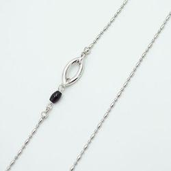 One link gemstone glasses chain