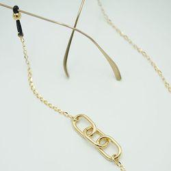 Three square link glasses chain