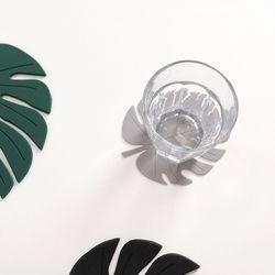 엘도로시 몬스테라 실리콘 코스터 컵받침 2P