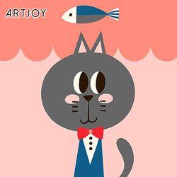 아트조이 DIY 명화그리기 멋쟁이 고양이 제이크 20x20cm