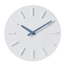 오픈 라운드인덱스벽시계(블루)