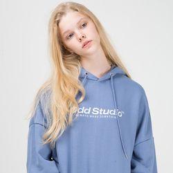 스탠다드 자수 로고 후드 - DUST BLUE