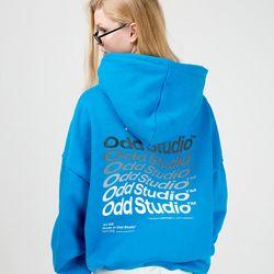 [스티커팩증정] 웨이브 후드 티셔츠 - BLUE