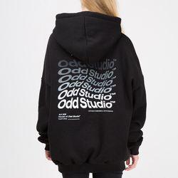 [스티커팩증정] 웨이브 후드 티셔츠 - BLACK