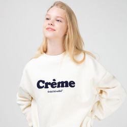 [사은품 증정] 크림 맨투맨 티셔츠 - CREAM