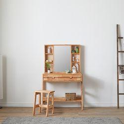 레일라 원목 수납 거울 화장대 A형 + 화장대 의자