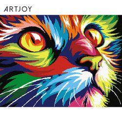 아트조이 DIY 명화그리기 무지개 고양이 40x30cm
