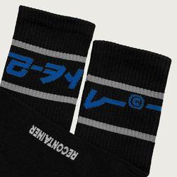 gray line socks (black)