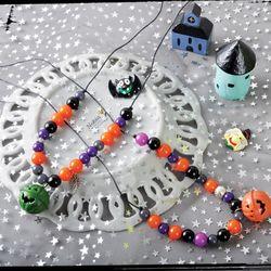 호박목걸이만들기(4개)참여수업할로윈파티용품재료