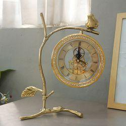 골드 나뭇가지 톱니 탁상시계(2type)
