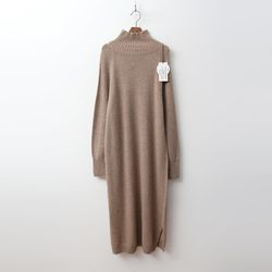Laine Wool Cashmere Turtleneck Long Dress