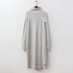 Laine Cashmere N Wool Turtleneck Long Dress