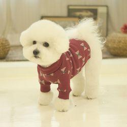 플라이 터틀넥 강아지 니트 핑크