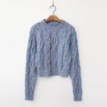 Wool Bokashi Crop Sweater