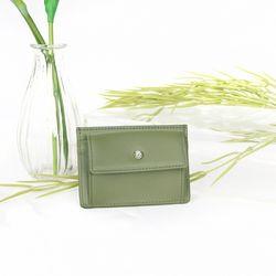 (탄생석지갑) Blumen Pocket Card Wallet - Green