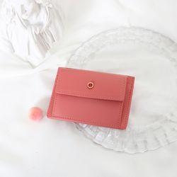 (탄생석지갑) Blumen Pocket Card Wallet - Coral