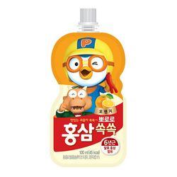 뽀로로 홍삼쏙쏙 오렌지 100ml 10개세트