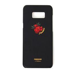 츄바스코 레드 로즈 위드 휴대폰케이스 CCB007 블랙