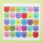 [한톨상점] 알록달록 반곰이 스티커