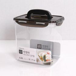 비스프리 원핸들 김치통 블랙 4.5L LBF828HB 투명용기