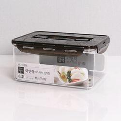 비스프리 원핸들 김치통 블랙 6.5L LBF883B 투명용기