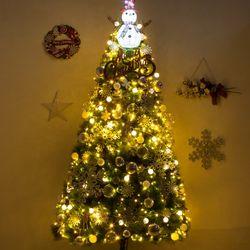 [무료배송] 고급 눈사람그린솔250cm(단면) 풀세트 크리스마스트리