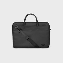 DOUBLE SLIM BRIEFCASE Black