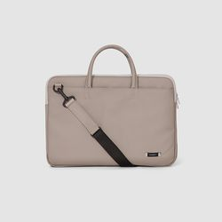 DOUBLE SLIM BRIEFCASE Grey