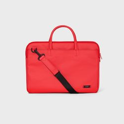 DOUBLE SLIM BRIEFCASE Red