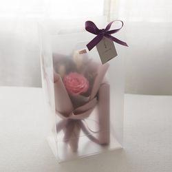 빅로즈 꽃다발 막대과자선물set