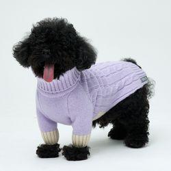 Lavender Cheez Cashmere Knit 소형견 - S M Size
