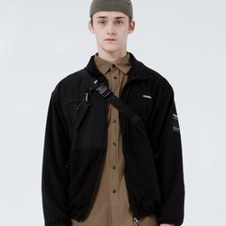 FLEECE ZIPUP JACKET (BLACK)