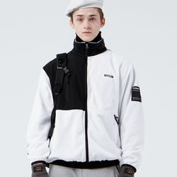FLEECE ZIPUP JACKET (WHITE)