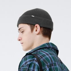 COTTON WATCH CAP F (CHARCOAL)