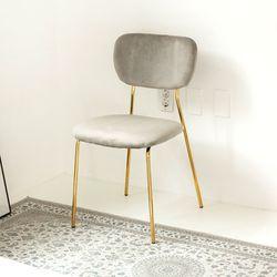 라임골드벨벳체어 식탁 디자인 카페의자