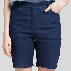 DENIM SHORTS (DARK BLUE)