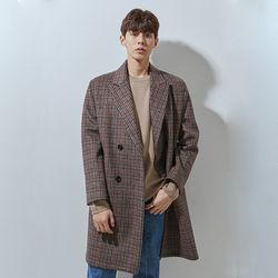 230 double coat check brwon