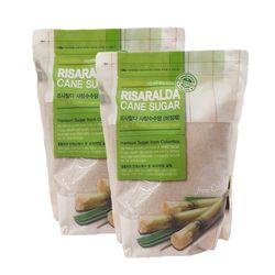 리사랄다 크리스탈 비정제 사탕수수당 2kg 2개세트