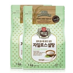 백설 하얀 자일로스 설탕 1kg 2개세트